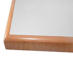 Tischplatten mit Massivholzkante